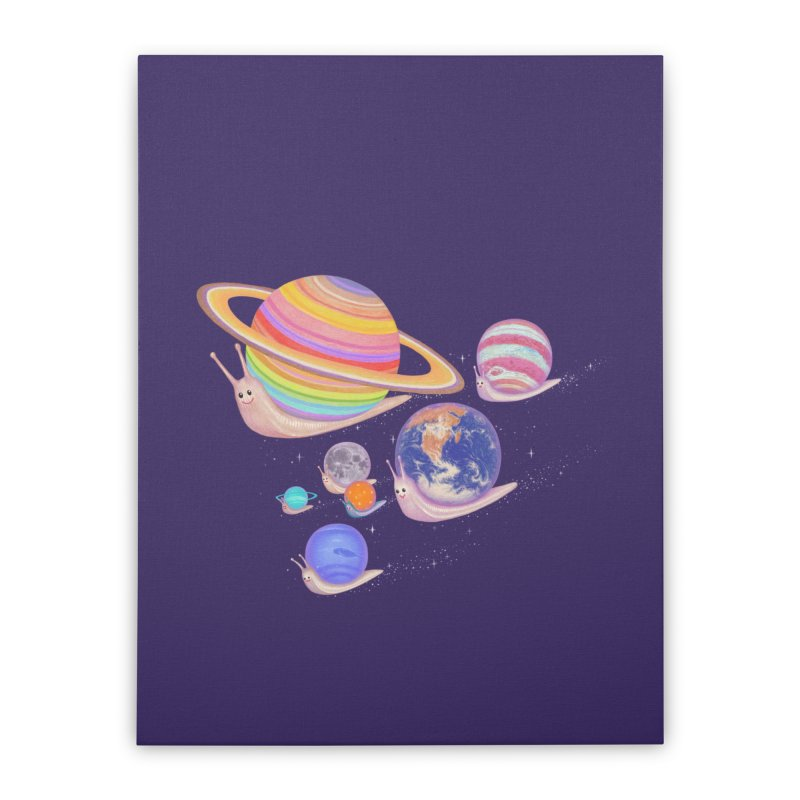 universe walk Home Stretched Canvas by makapa's Artist Shop
