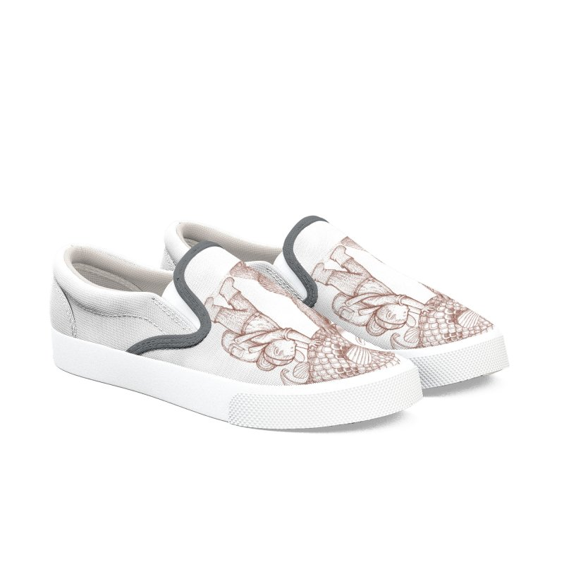 big fish Women's Slip-On Shoes by makapa's Artist Shop
