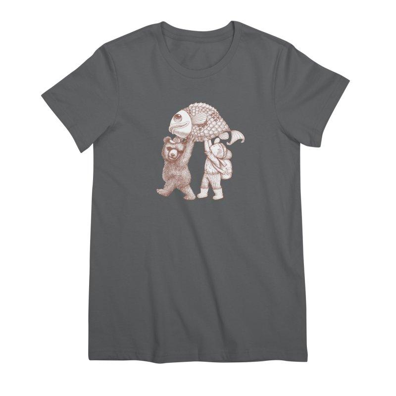 big fish Women's Premium T-Shirt by makapa's Artist Shop