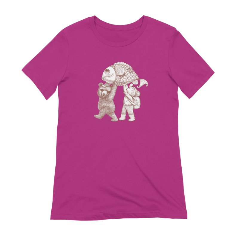 big fish Women's Extra Soft T-Shirt by makapa's Artist Shop