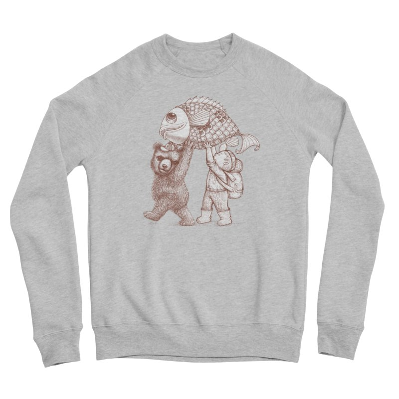 big fish Men's Sponge Fleece Sweatshirt by makapa's Artist Shop
