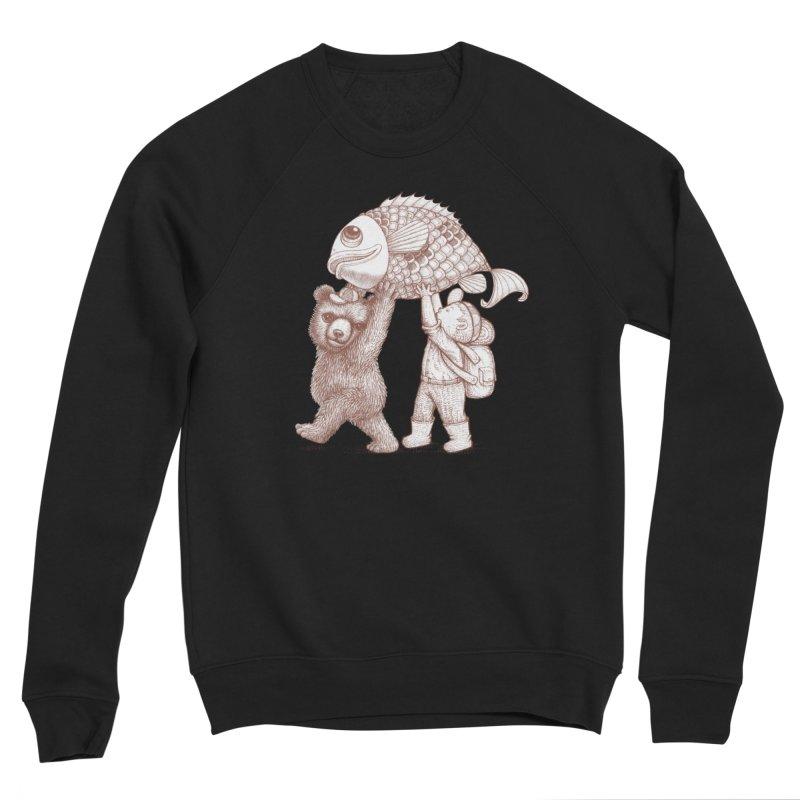 big fish Men's Sponge Fleece Sweatshirt by makapa's Artist Shop