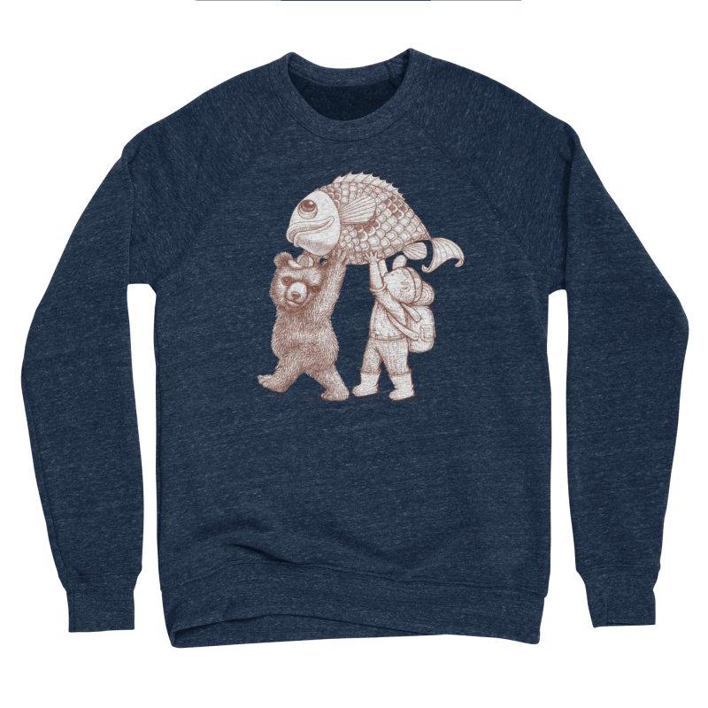 big fish Women's Sponge Fleece Sweatshirt by makapa's Artist Shop