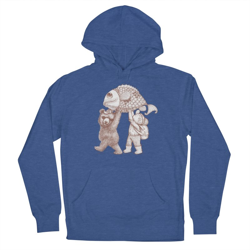 big fish Women's French Terry Pullover Hoody by makapa's Artist Shop