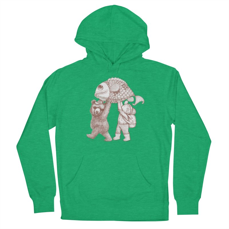 big fish Men's French Terry Pullover Hoody by makapa's Artist Shop