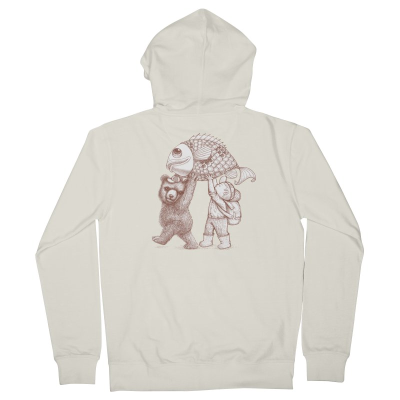 big fish Men's French Terry Zip-Up Hoody by makapa's Artist Shop