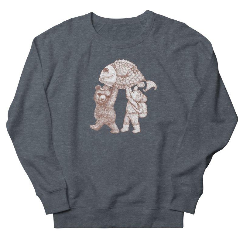 big fish Women's French Terry Sweatshirt by makapa's Artist Shop