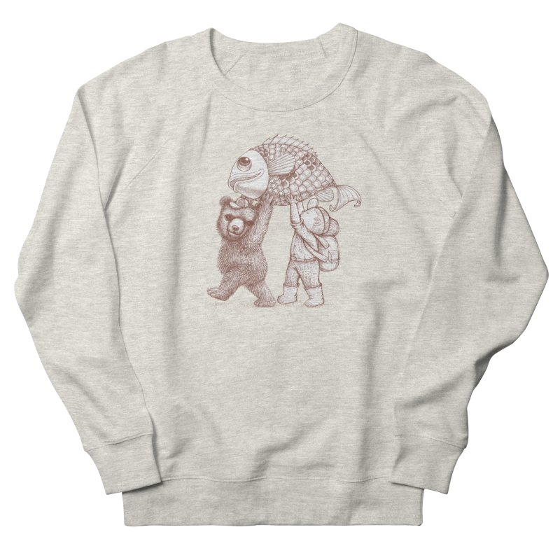 big fish Men's French Terry Sweatshirt by makapa's Artist Shop