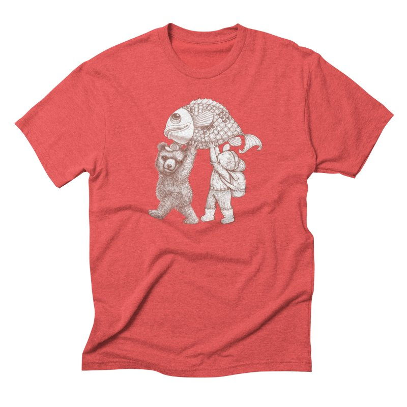 big fish Men's Triblend T-Shirt by makapa's Artist Shop