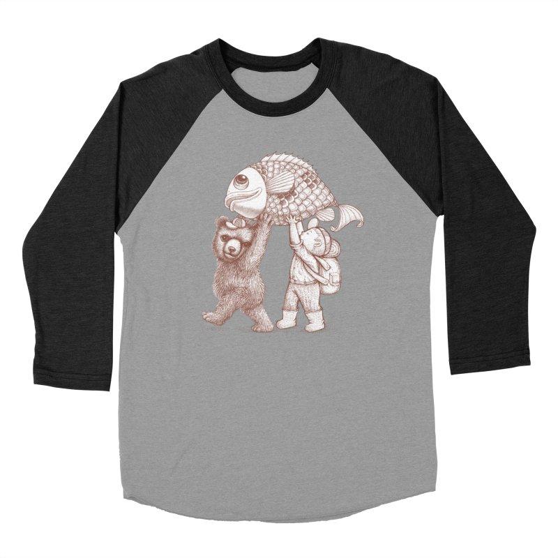 big fish Women's Baseball Triblend Longsleeve T-Shirt by makapa's Artist Shop