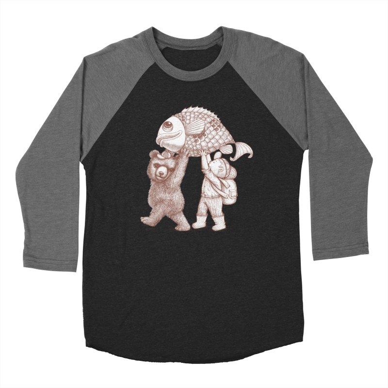 big fish Men's Baseball Triblend Longsleeve T-Shirt by makapa's Artist Shop