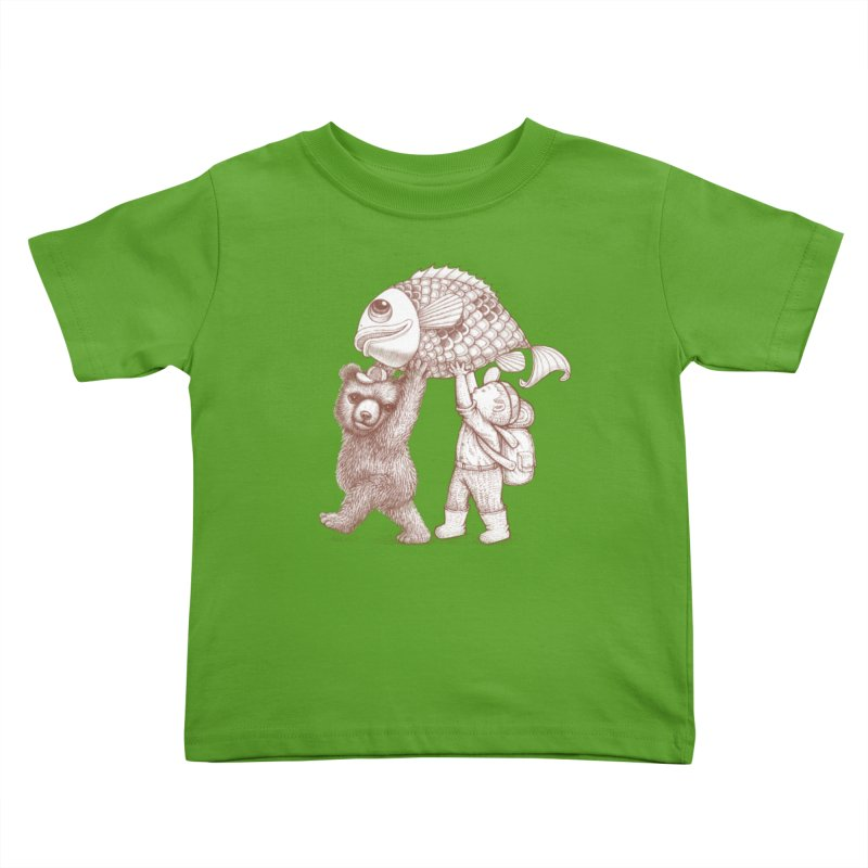 big fish Kids Toddler T-Shirt by makapa's Artist Shop
