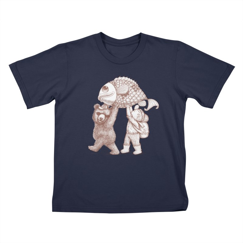 big fish Kids T-Shirt by makapa's Artist Shop