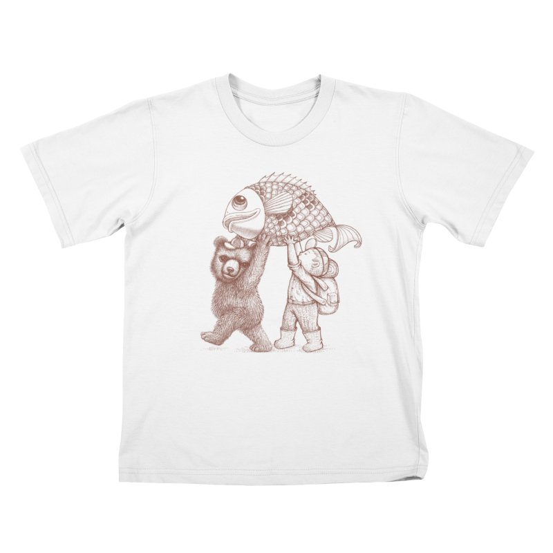 big fish Kids T-Shirt by makapa's Artist Shop
