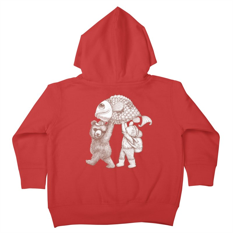 big fish Kids Toddler Zip-Up Hoody by makapa's Artist Shop