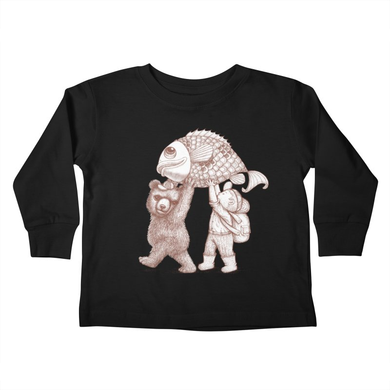 big fish Kids Toddler Longsleeve T-Shirt by makapa's Artist Shop