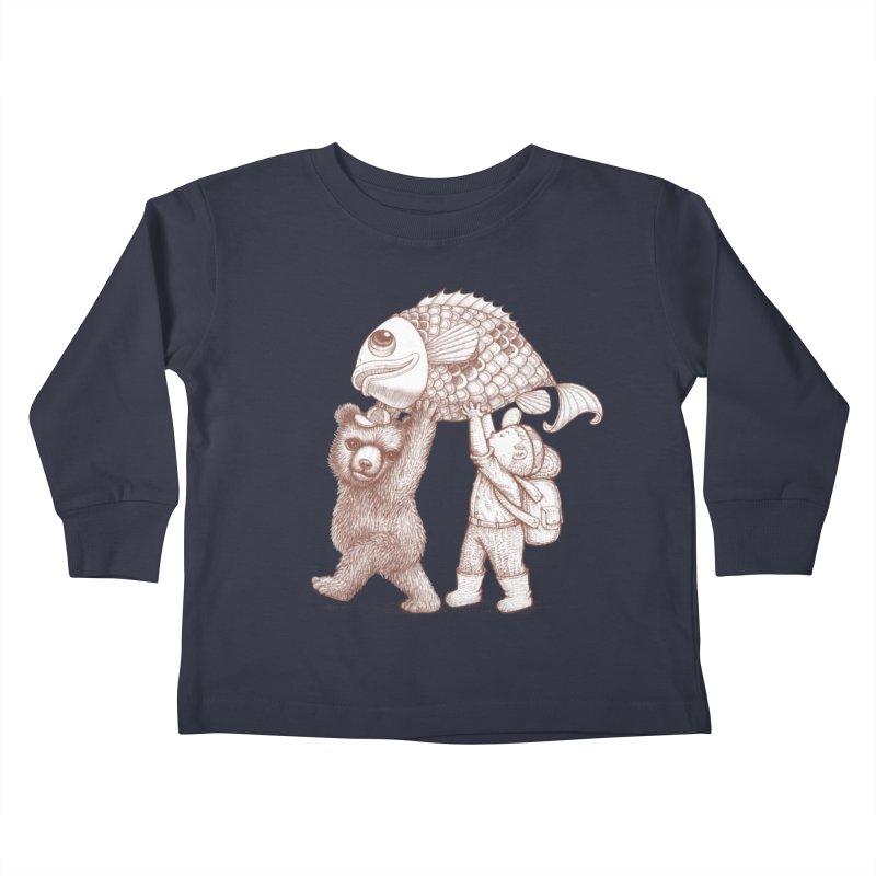 big fish Kids Toddler Longsleeve T-Shirt by makapa's Artist Shop