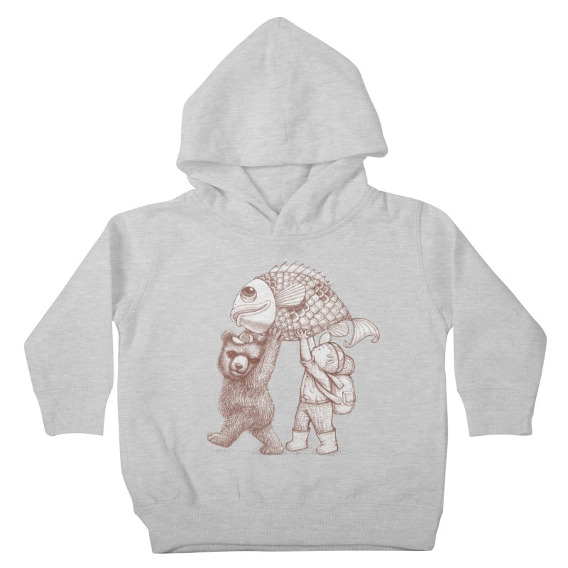 big fish Kids Toddler Pullover Hoody by makapa's Artist Shop