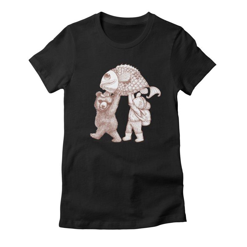 big fish Women's Fitted T-Shirt by makapa's Artist Shop