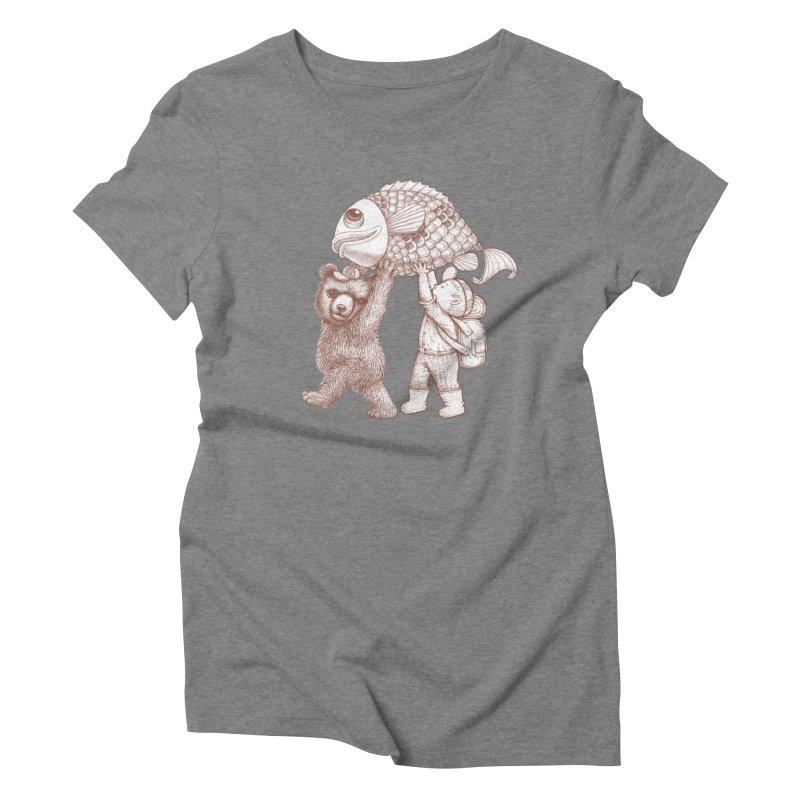 big fish Women's Triblend T-Shirt by makapa's Artist Shop