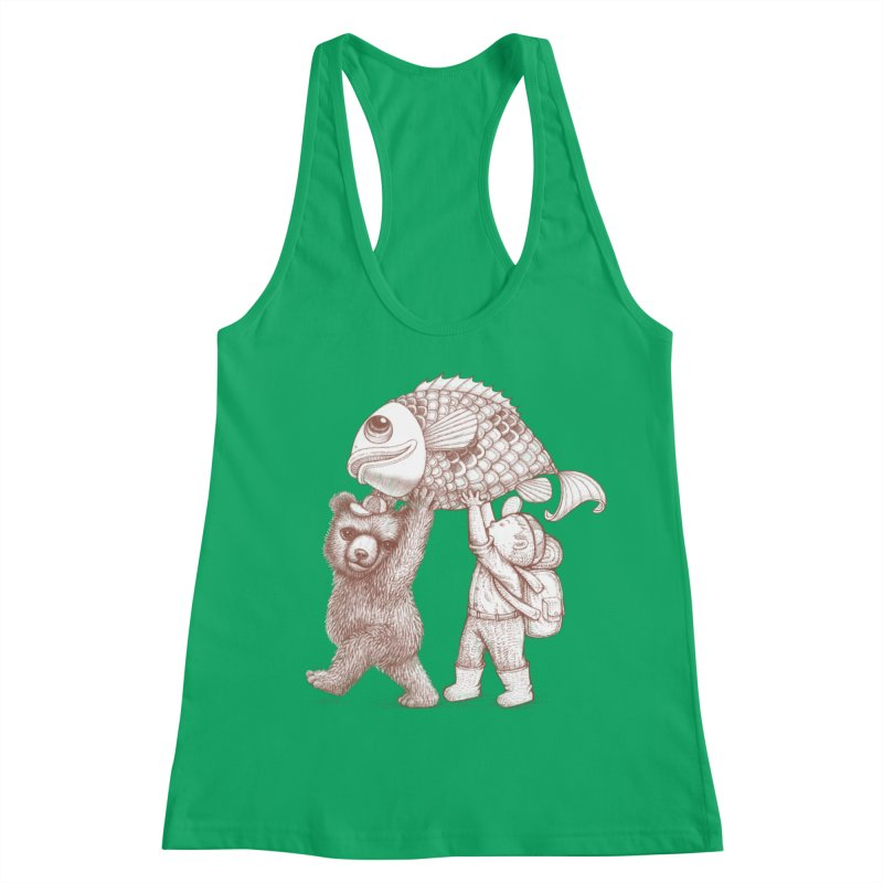 big fish Women's Racerback Tank by makapa's Artist Shop