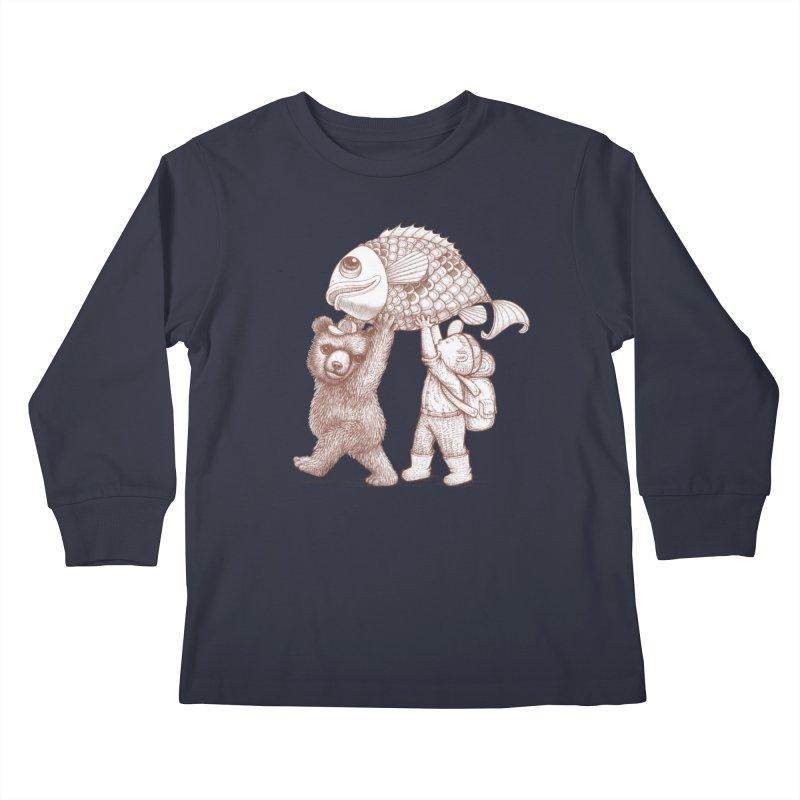big fish Kids Longsleeve T-Shirt by makapa's Artist Shop