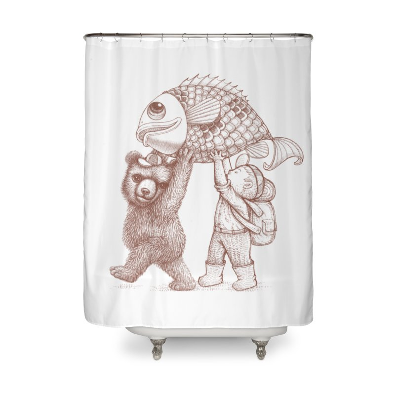 big fish Home Shower Curtain by makapa's Artist Shop