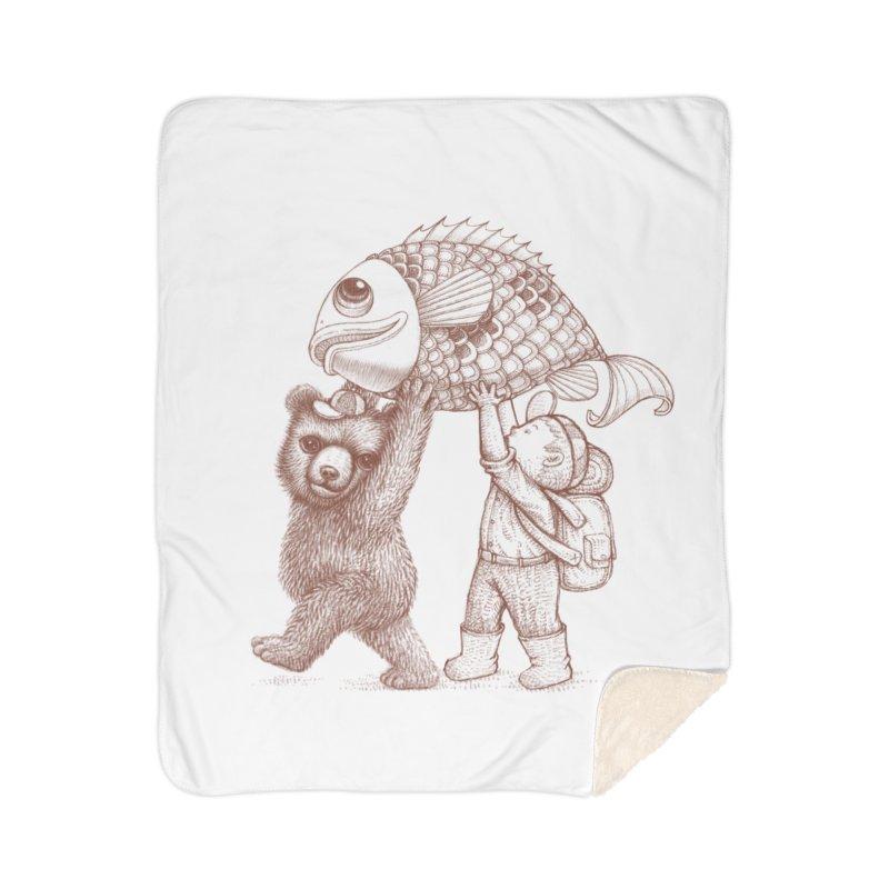 big fish Home Sherpa Blanket Blanket by makapa's Artist Shop