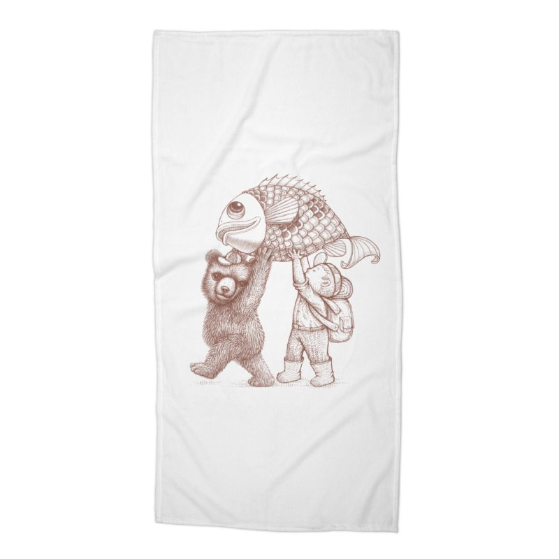 big fish Accessories Beach Towel by makapa's Artist Shop