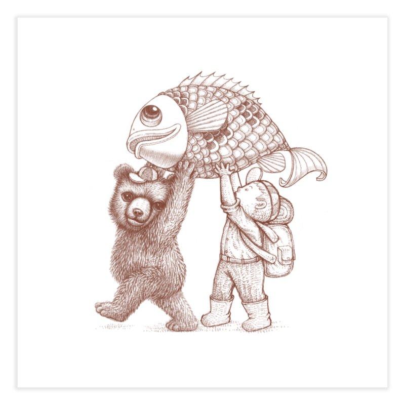 big fish Home Fine Art Print by makapa's Artist Shop