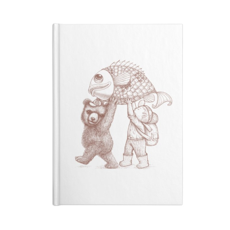 big fish Accessories Lined Journal Notebook by makapa's Artist Shop