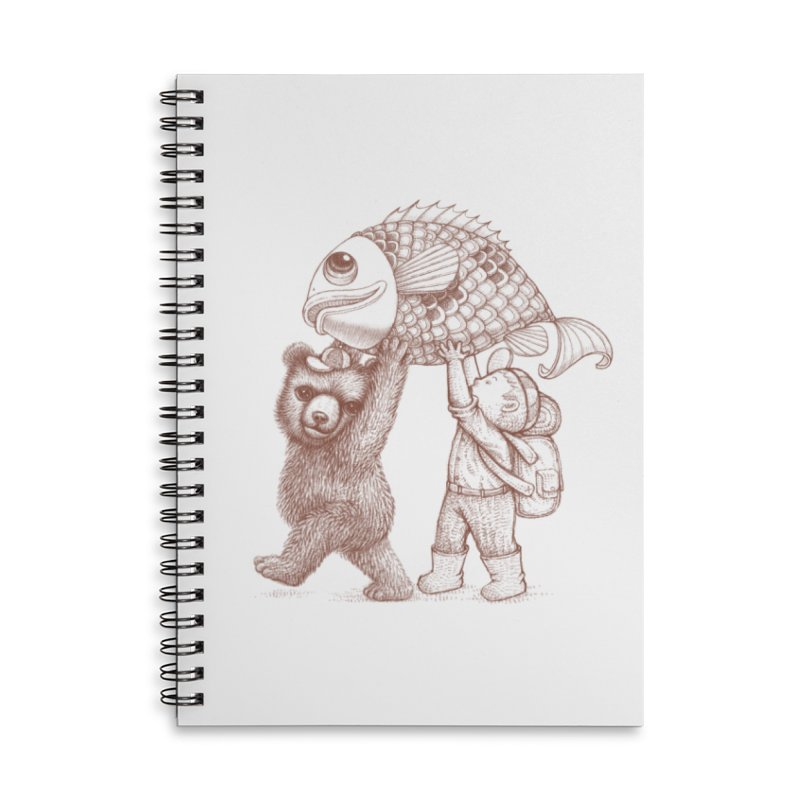 big fish Accessories Lined Spiral Notebook by makapa's Artist Shop