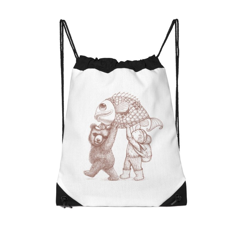 big fish Accessories Drawstring Bag Bag by makapa's Artist Shop