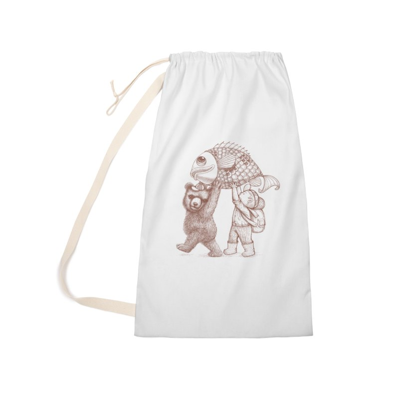 big fish Accessories Laundry Bag Bag by makapa's Artist Shop