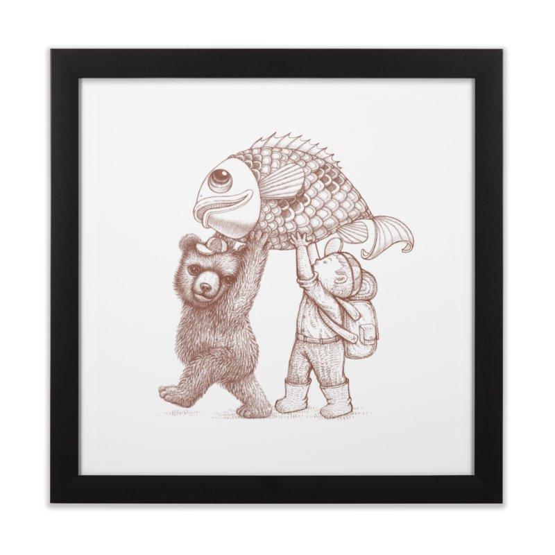 big fish Home Framed Fine Art Print by makapa's Artist Shop