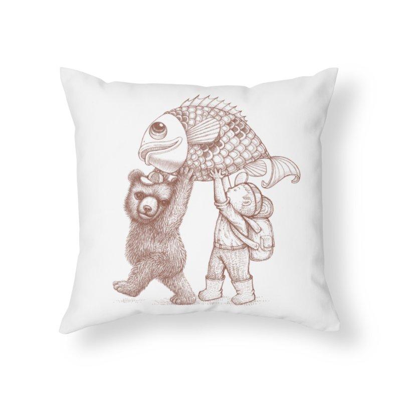 big fish Home Throw Pillow by makapa's Artist Shop