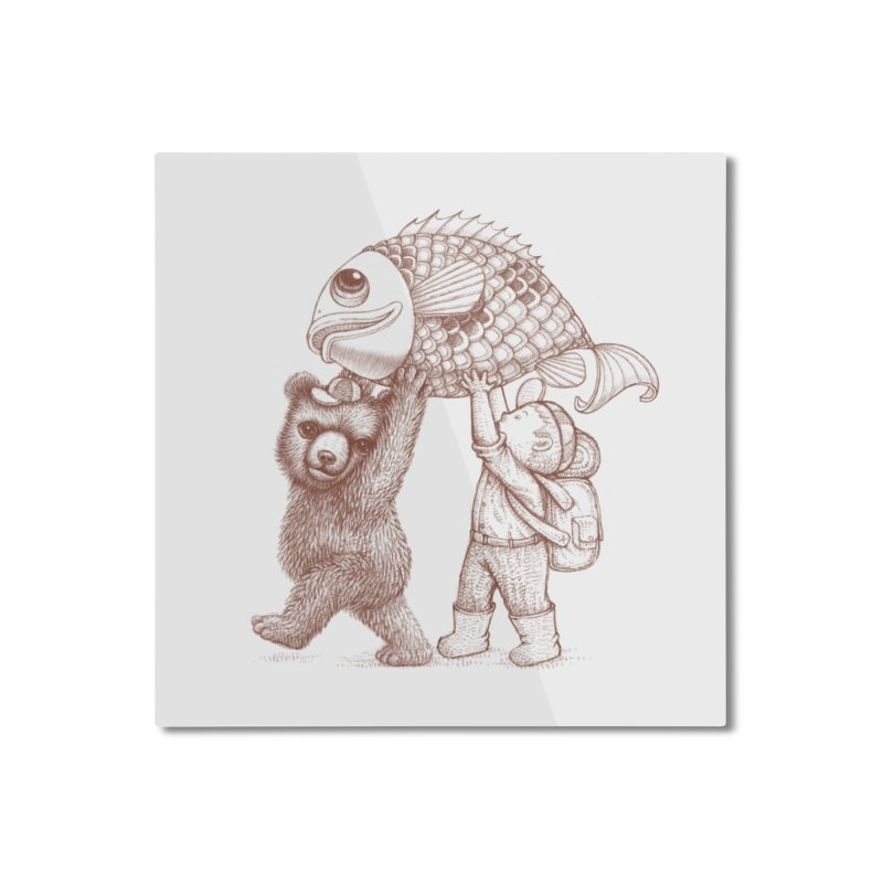 big fish Home Mounted Aluminum Print by makapa's Artist Shop