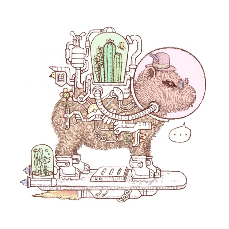 capybara space suit Accessories Sticker by makapa's Artist Shop