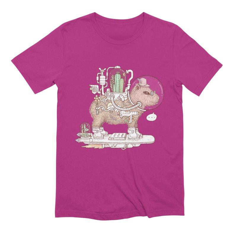 capybara space suit Men's Extra Soft T-Shirt by makapa's Artist Shop