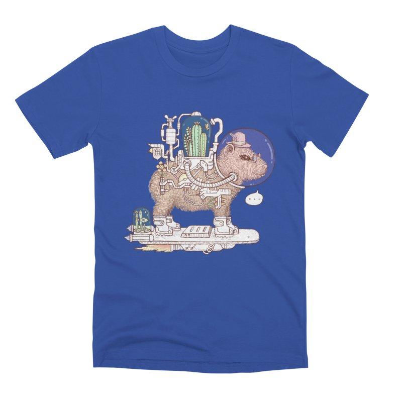capybara space suit Men's Premium T-Shirt by makapa's Artist Shop
