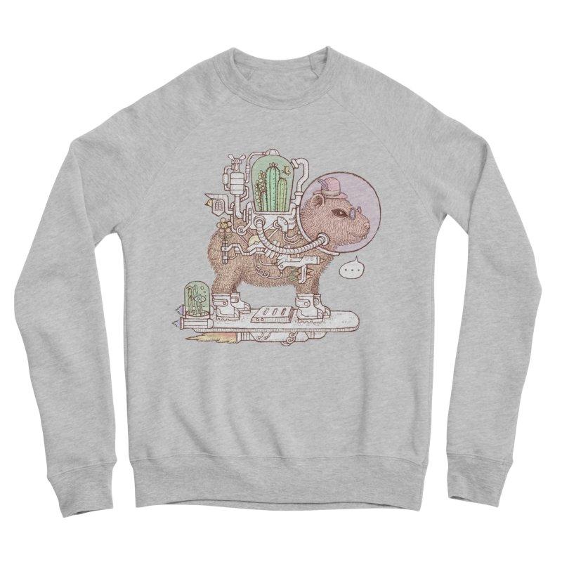 capybara space suit Men's Sponge Fleece Sweatshirt by makapa's Artist Shop