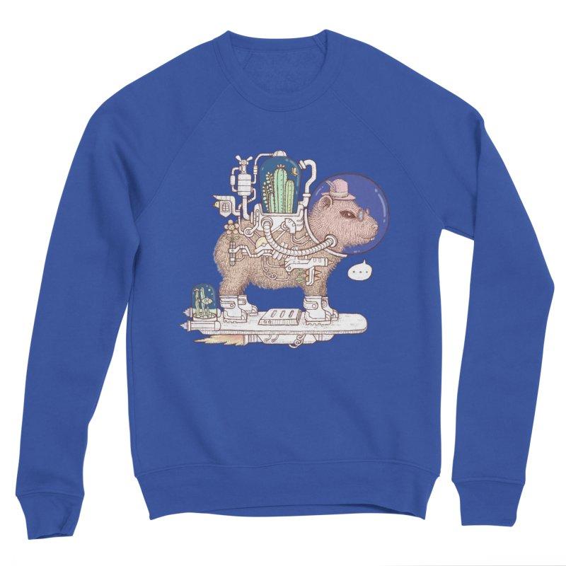 capybara space suit Women's Sponge Fleece Sweatshirt by makapa's Artist Shop