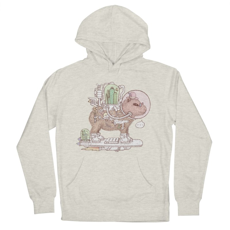 capybara space suit Women's French Terry Pullover Hoody by makapa's Artist Shop