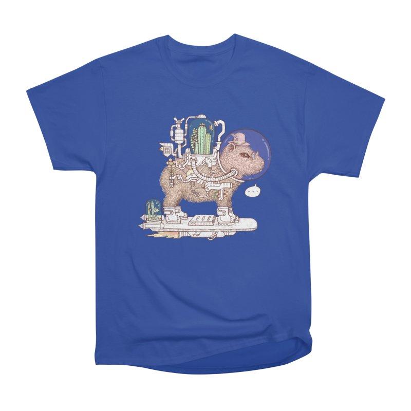 capybara space suit Women's Heavyweight Unisex T-Shirt by makapa's Artist Shop