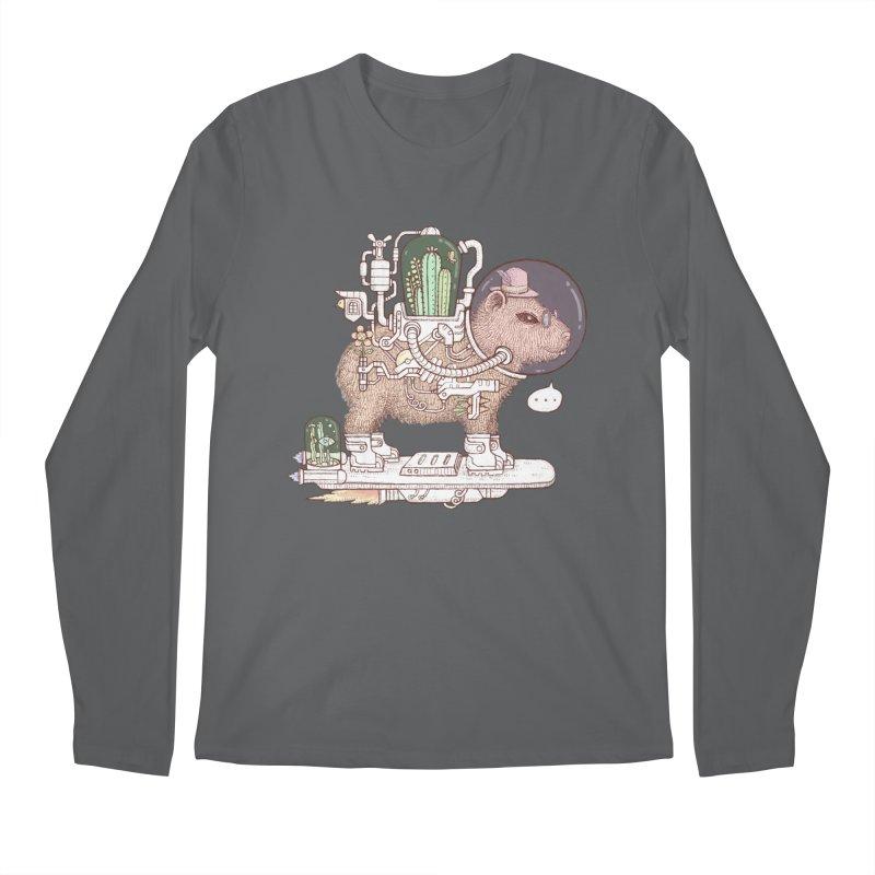 capybara space suit Men's Longsleeve T-Shirt by makapa's Artist Shop