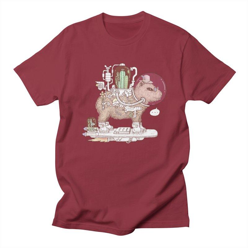 capybara space suit Men's T-Shirt by makapa's Artist Shop
