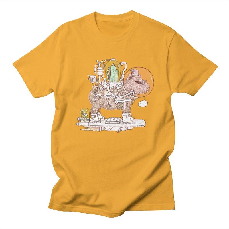 capybara space suit Men's Regular T-Shirt by makapa's Artist Shop
