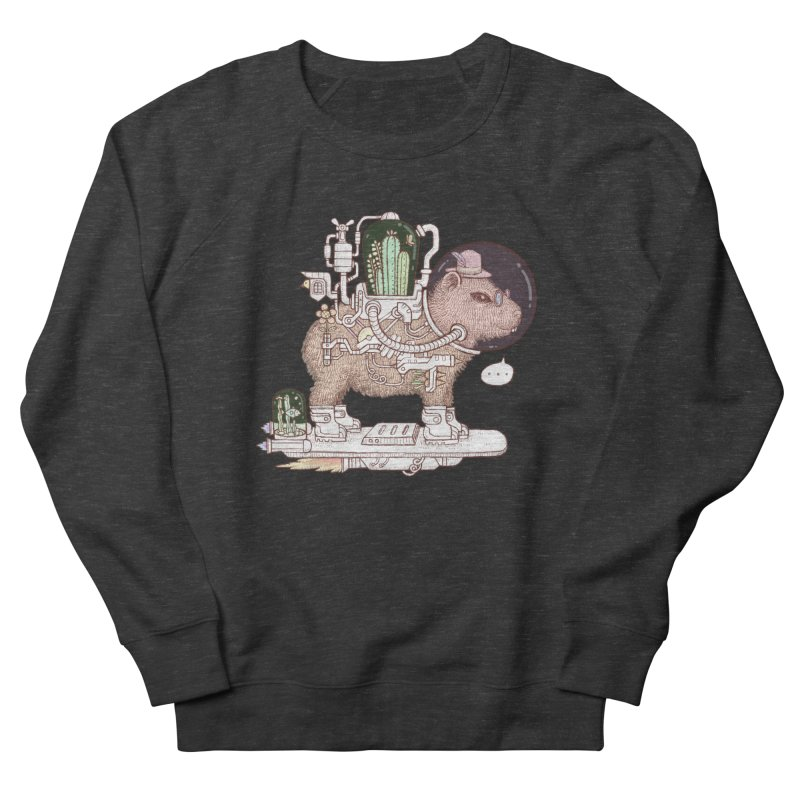 capybara space suit Women's French Terry Sweatshirt by makapa's Artist Shop