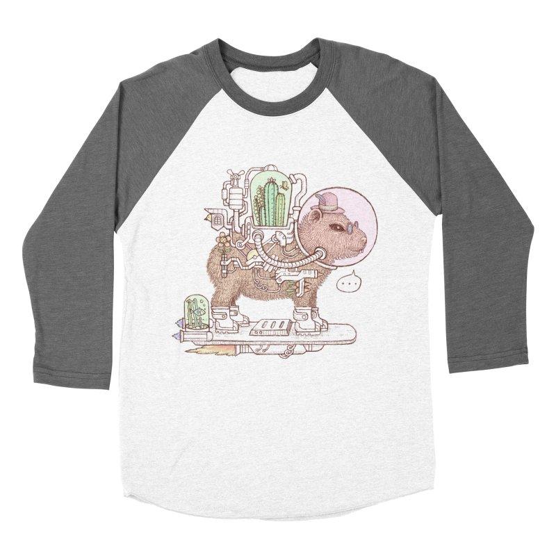 capybara space suit Women's Baseball Triblend Longsleeve T-Shirt by makapa's Artist Shop