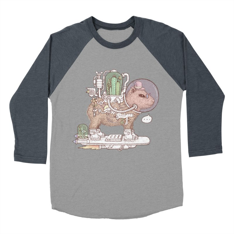 capybara space suit Men's Baseball Triblend Longsleeve T-Shirt by makapa's Artist Shop